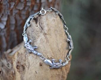 Sterling Silver Platypus Bracelet / Robert Burkett / Spirit Animal / Totem / Chain / Vintage Design /