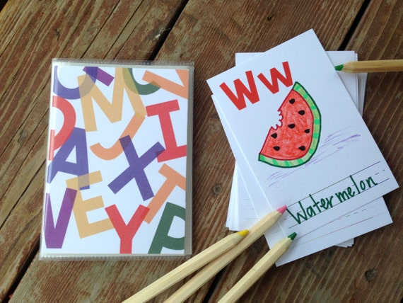 Diy alphabet book baby shower activity game primary colors like this item solutioingenieria Images