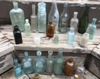 26 Rare Antique Bottles.