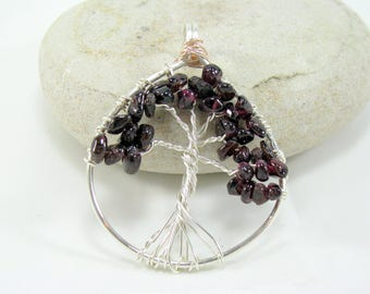 Genuine Garnet Tree of Life