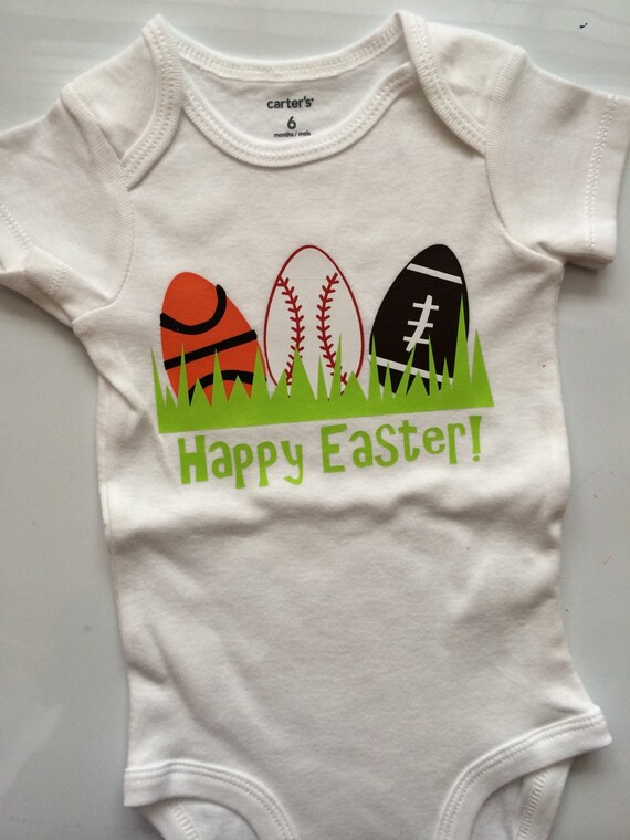 Baby Boy Toddler Boy Easter Outfit Sports Easter Egg Easter