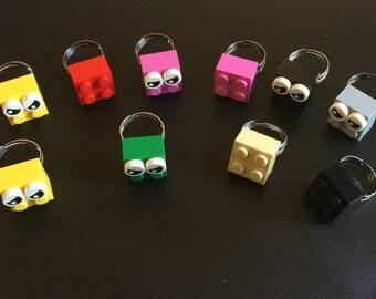 10 Lego Brick Ring, Lego theme party favors