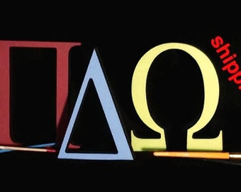8'' Tall Self Standing Greek letters! Unpainted with FREE Shipping! Delta, Zeta, Aplha, Omega, Beta, Chi, Xi, Pi, and Gamma  110