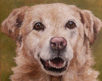 "PET PORTRAIT - Custom painting in Acrylics on Canvas or Pastel-Original Dog Art 11"" x 14"""