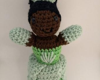 Tiana crochet doll