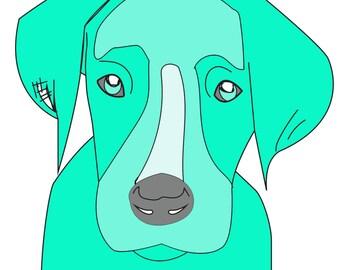 Puppy Love Free Motion Applique PDF Pattern design