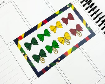 Jurassic // Bows (Glossy Planner Stickers)