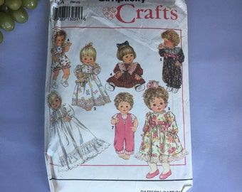 2725 Simplicity 8099 Sewing infant doll dress with bonnet pattern