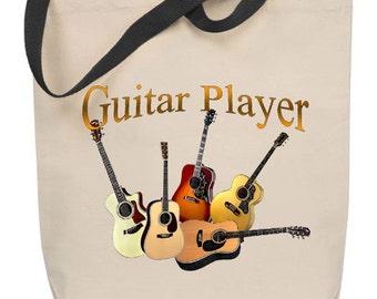 Guitar Player Tote Bag
