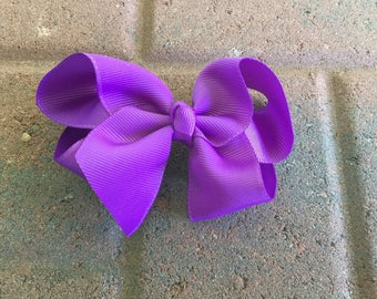 Purple JoJo Bow, Clip, Twisted Boutique Bow, Photo Prop, Toddlers, Girls, Hair Clip, Hair Accessory, baby, Special Occasion, Everyday