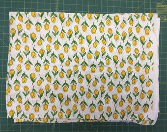 "Yellow Tulip Cotton fabric.  3 yards + 24"""