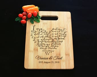 Personalized Cheese Board, Serving Board, Bread Board, Custom, Engraved, Wedding Gift, Housewarming Gift, Anniversary, Engagement CBHB104