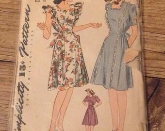 Vintage Maternity Dressmaking Pattern , Vintage 1941 Sewing Pattern , Vintage Maternity Dress