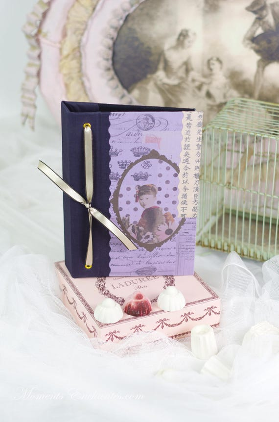 Note book  vintage shabby chic Geisha japanese style