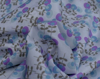 Blue and Lavender  Flowers, 1 yard