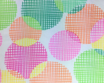 Fabric Remnant - Spots and Stripes Pattern