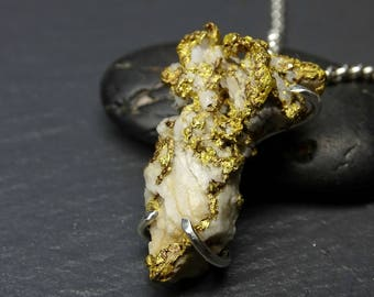 Natural gold nugget pendant raw gold nugget necklace real big gold nugget pendant mens large gold nugget necklace natural gold pendant boytroidal aloadofball Images