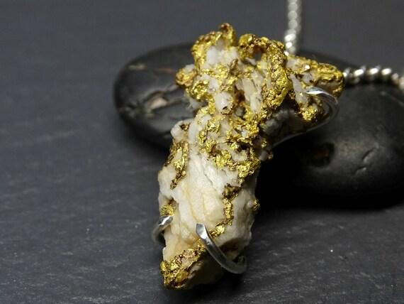big gold nugget pendant mens large gold nugget necklace