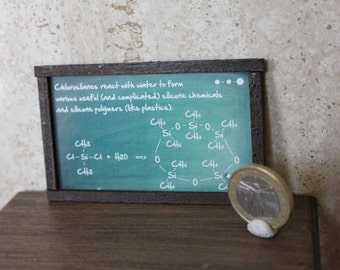 Dollhouse Miniature Chemistry blackboard