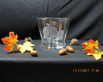Pumpkin Candle Holder-Etched