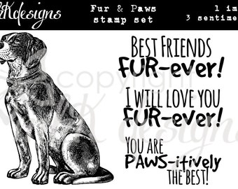 Fur & Paws Digital Stamp Set
