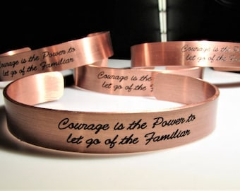 Custom Text Copper Cuff - Your Text / Your Name / Personalized Cuff / Copper Bracelet / Personalized Bracelet / Womens Bracelet / Dainty