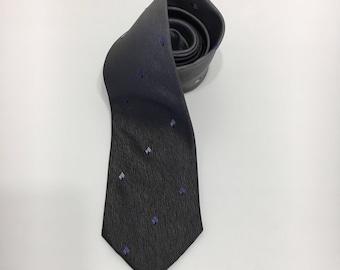 Vintage Grey Skinny Necktie