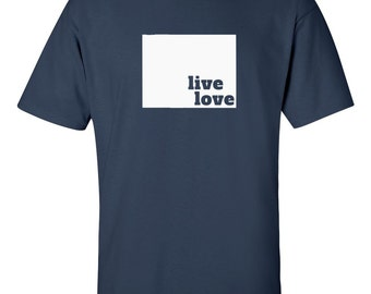 Wyoming T-shirt - Live Love Wyoming - My State Wyoming T-shirt