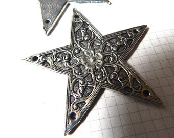 Large Metal Star with Filigree Pattern