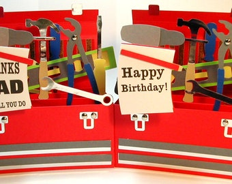 Father's Day 3D Pop Up Box card Tool Box Toolbox