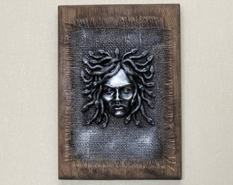 Relief sculpture Picture - amulet of Medusa Gorgon