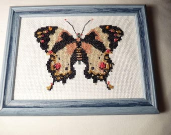 EMBROIDERED BUTTERFLY TABLE