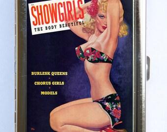 Showgirls Pin up pinup Cigarette Case Wallet Business Card Holder retro rockabilly