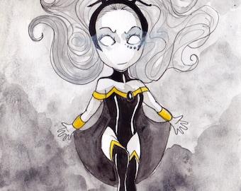 Ana Dess in Tornade - X-men - Illustration