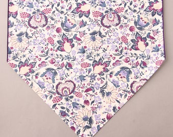 """Purple Floral Table Runner, Country Floral Print, Small 36"""" or Large 72"""" Table Runner, Everyday Table Runner"""