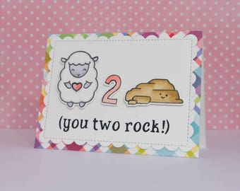 You Two Rock Anniversary Card / Anniversary Puns / Punny Card / Cute Anniversary