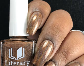 NEW! Tulgey Wood - Warm Brown Holographic Nail Polish - Alice in Lacquerland
