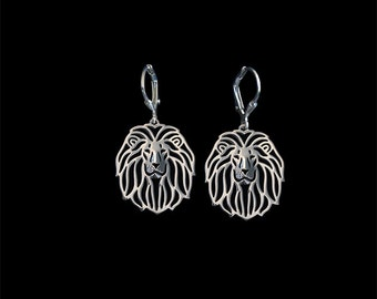 Lion earrings - sterling silver.