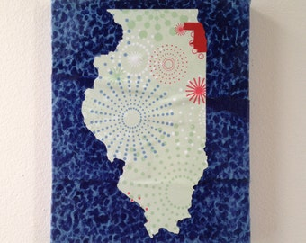 Chicago -- Cook County, Illinois -- Map Collage