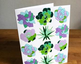 Succulent card (single)