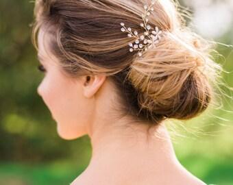 Bridal Hair Pins Flower Hair pins Crystal hair Pins wedding hair pins beaded hair pins flower headpiece bridal headpiece boho hair pins #136