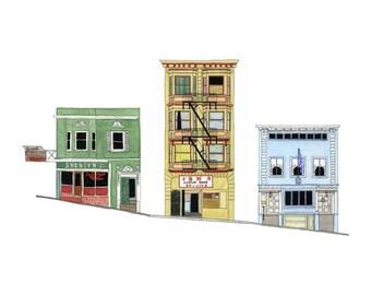 San Francisco Street - Collectible Print