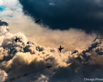 Chicago Photography | Chicago Air and Water | Airshow | Fine art photography | wall art | gift | wall decor | air plane | color