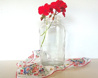 Vintage Art Deco Glass Jar