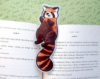 Red Panda Bookmark -  Animal Bookmark / Book Lover Gift / Cute Shaped Bookmark / Laminated Bookmark / Book Party Favor / Kids Bookmark