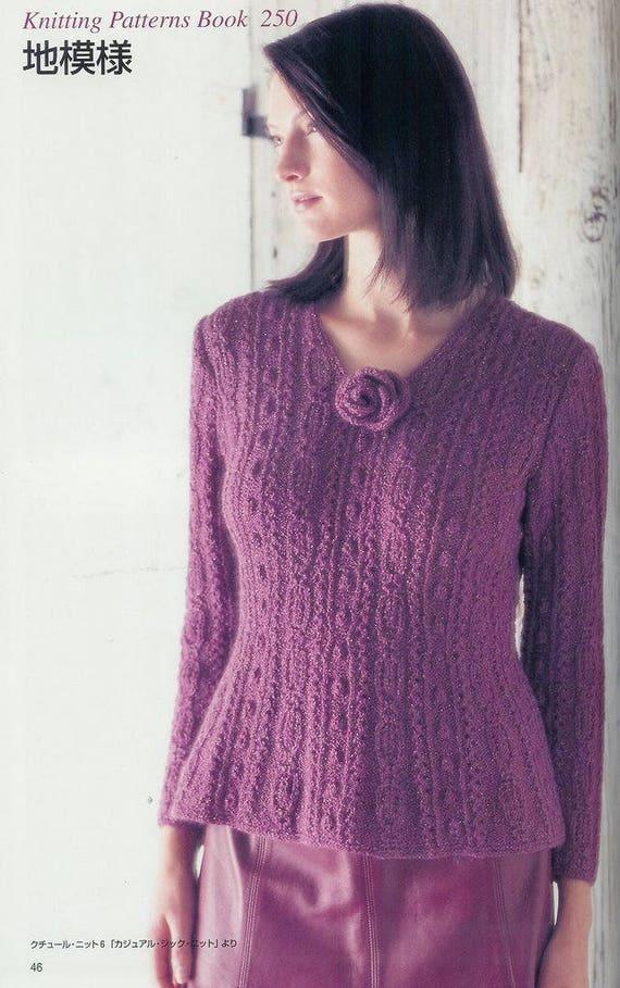 250 Knitting Patterns Book   Japanese Knitting ebook   Knitting ...