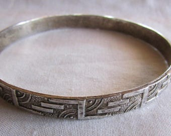 Taxco Mexico Sterling Silver Bangle Bracelet