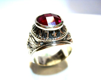 American Navy Silver Ring