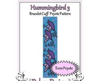 Bead Pattern Peyote(Bracelet Cuff)-Hummingbird 3