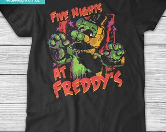 New FNAF Five Nights at Freddy's Phantom Freddy Youth Kids Shirt and Toddler Shirt Sizes